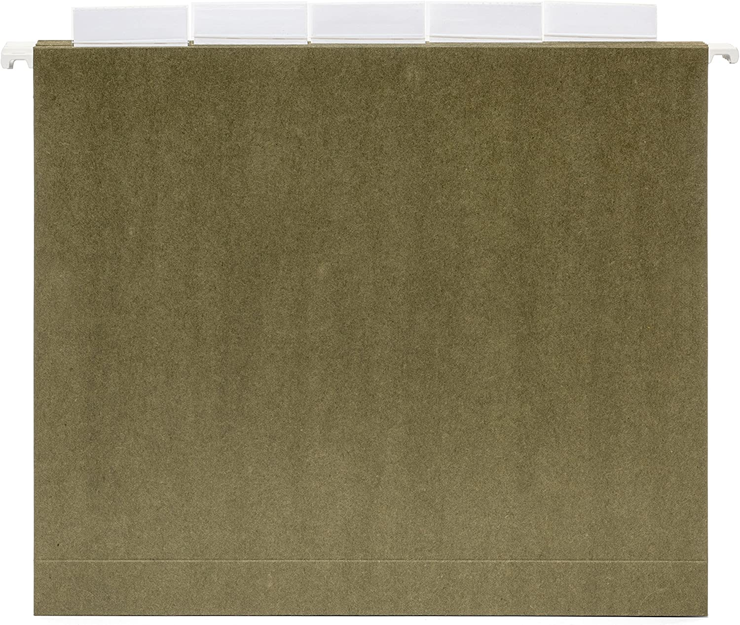 Blue Summit Supplies Extra Capacity Hanging File Folders, 25 Reinforced Hang Folders, Heavy Duty 2 Inch Expansion, Designed for Bulky Files and Charts, Letter Size, Standard Green, 25 Pack : Office Products