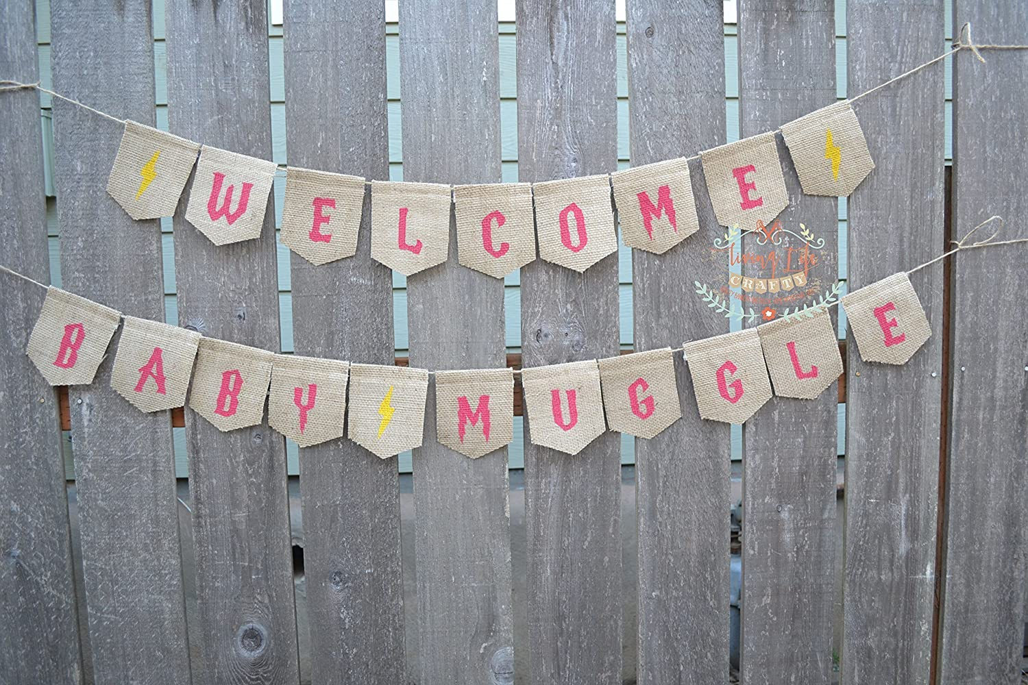 Amazon Com Harry Potter Banner Burlap Banner Welcome Little Muggle Banner Welcome Baby Baby Sign Baby Shower Baby Announcement Handmade
