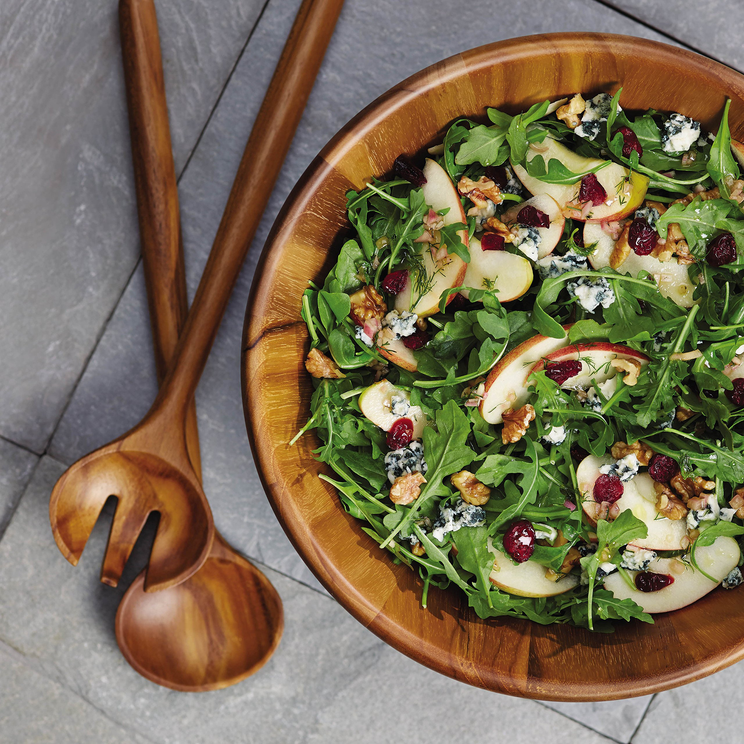 Anolon 46086 Pantryware 3 Piece Salad Set Wood by Anolon (Image #6)