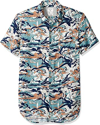 Quiksilver Hombre EQYWT03797 Manga Corta Camisa de Botones: Amazon.es: Ropa y accesorios