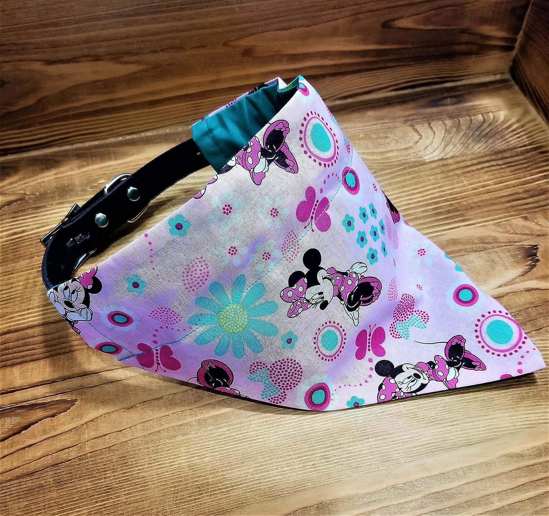 Disney Minnie Mouse Dog Bandana No-Tie Design