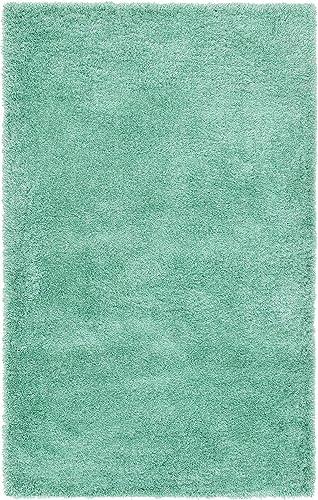 Unique Loom Luxe Solo Collection Plush Modern Feldspar Green Area Rug 5 0 x 8 0