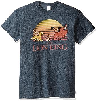 19dddcf810d Disney Men s the Lion King Retro Sunset T-Shirt