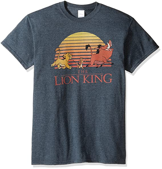 c04330ed0 Amazon.com: Disney Men's the Lion King Retro Sunset T-Shirt: Clothing