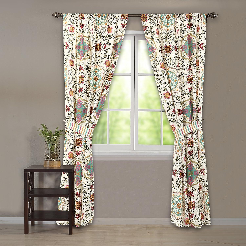 amazoncom greenland home esprit spice curtain panel pair with tiebacks home u0026 kitchen