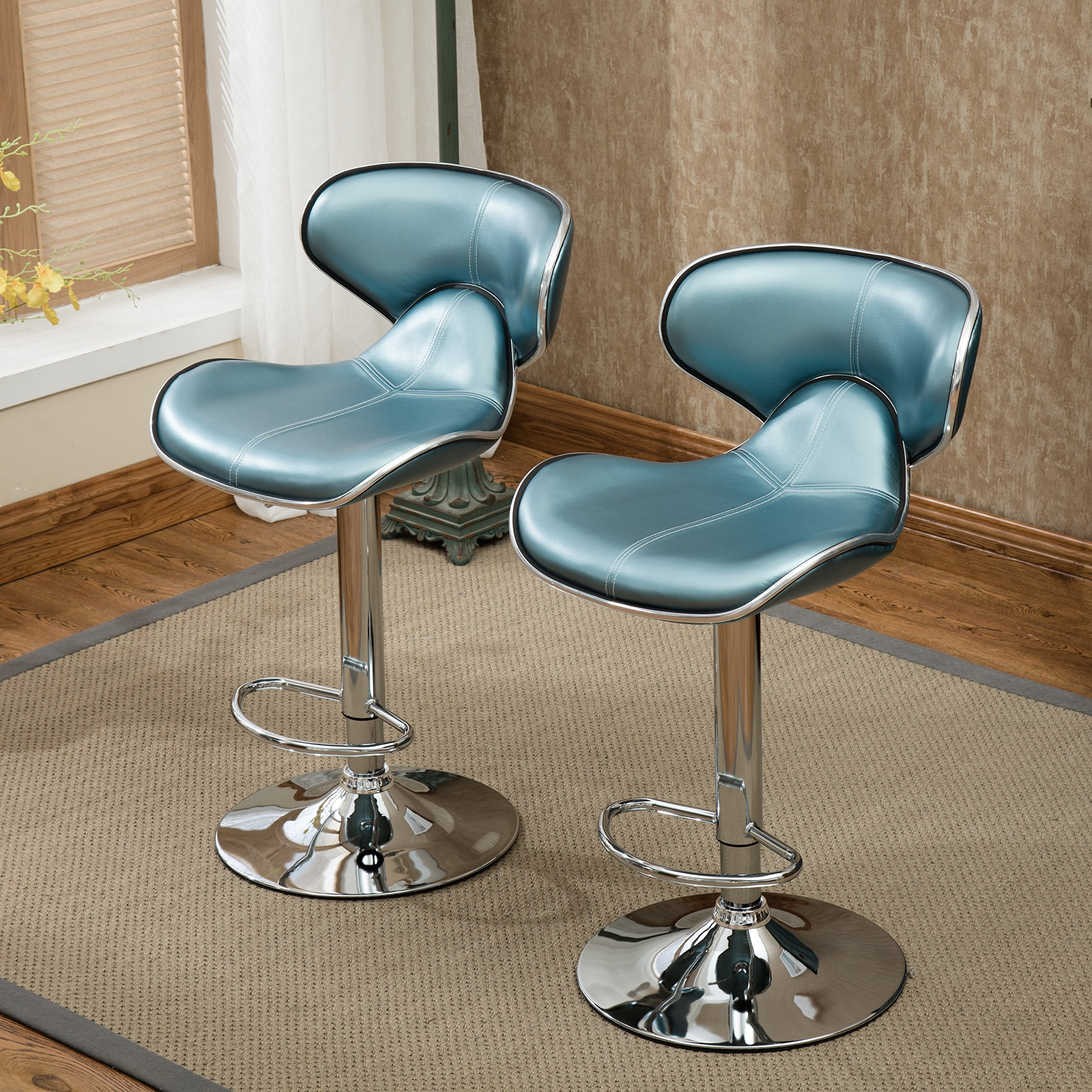 Airlift Adjustable Swivel Barstool with Chrome Base
