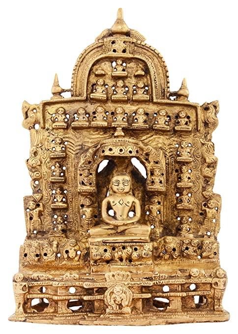 Buy Kapasi Handicrafts Emporium Brass Lord Mahavir Swami Sitting