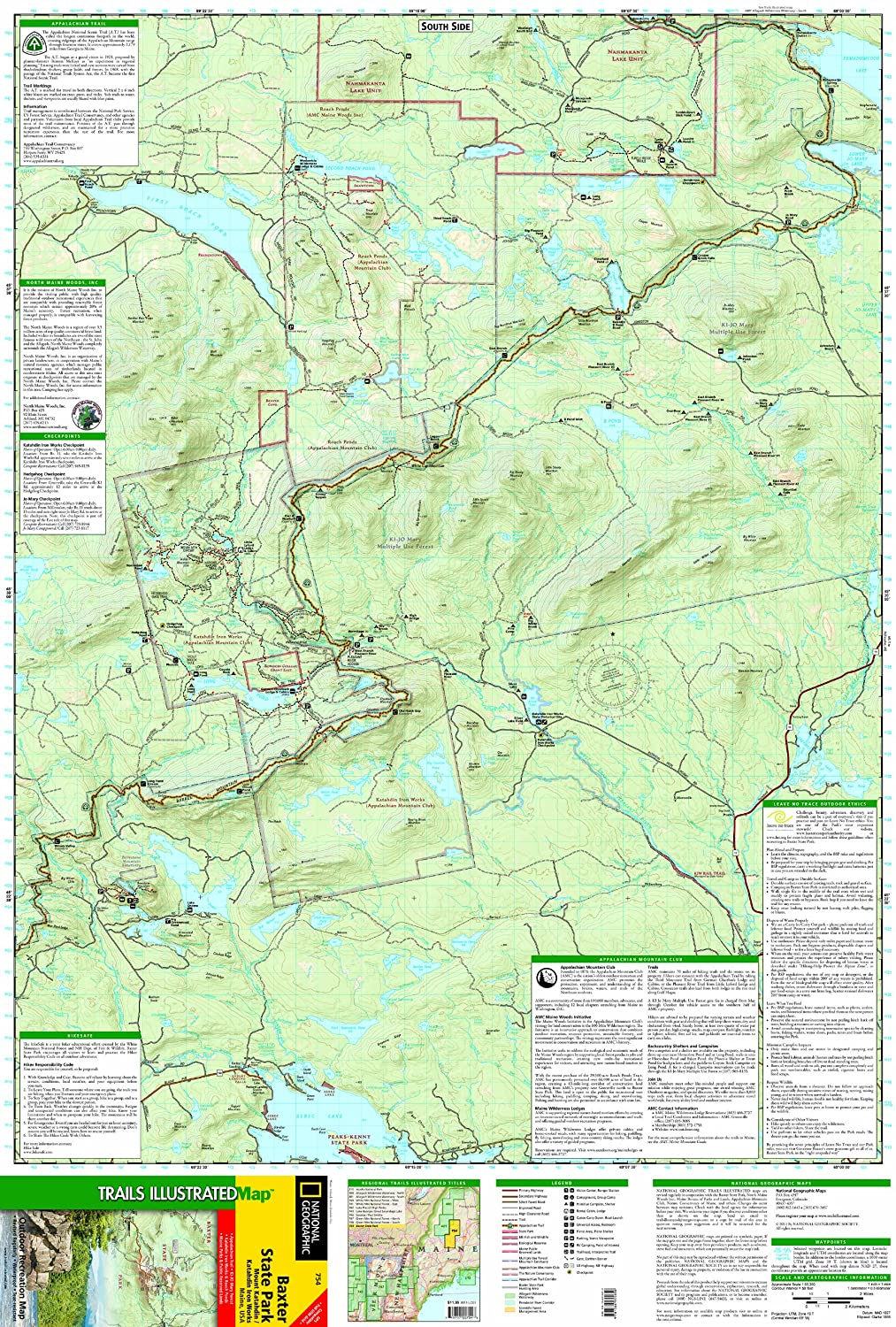 Baxter State Park/mount Katahdin: Trails Illustrated Other ... on lake george map, charleston map, baxter mn street map, floral park queens map, monhegan island map, mount katahdin map, androscoggin river map, kiwanis park map, patapsco hilton area map, baxter st park map, united states map, martha's vineyard map,