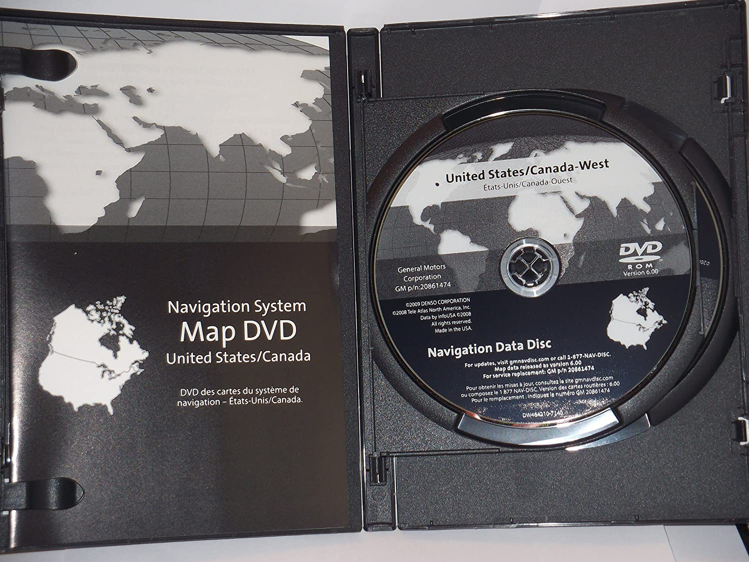 Amazon.com: Navigation DISC 2 Disc set 20861474 2005-2011 Cadillac ...