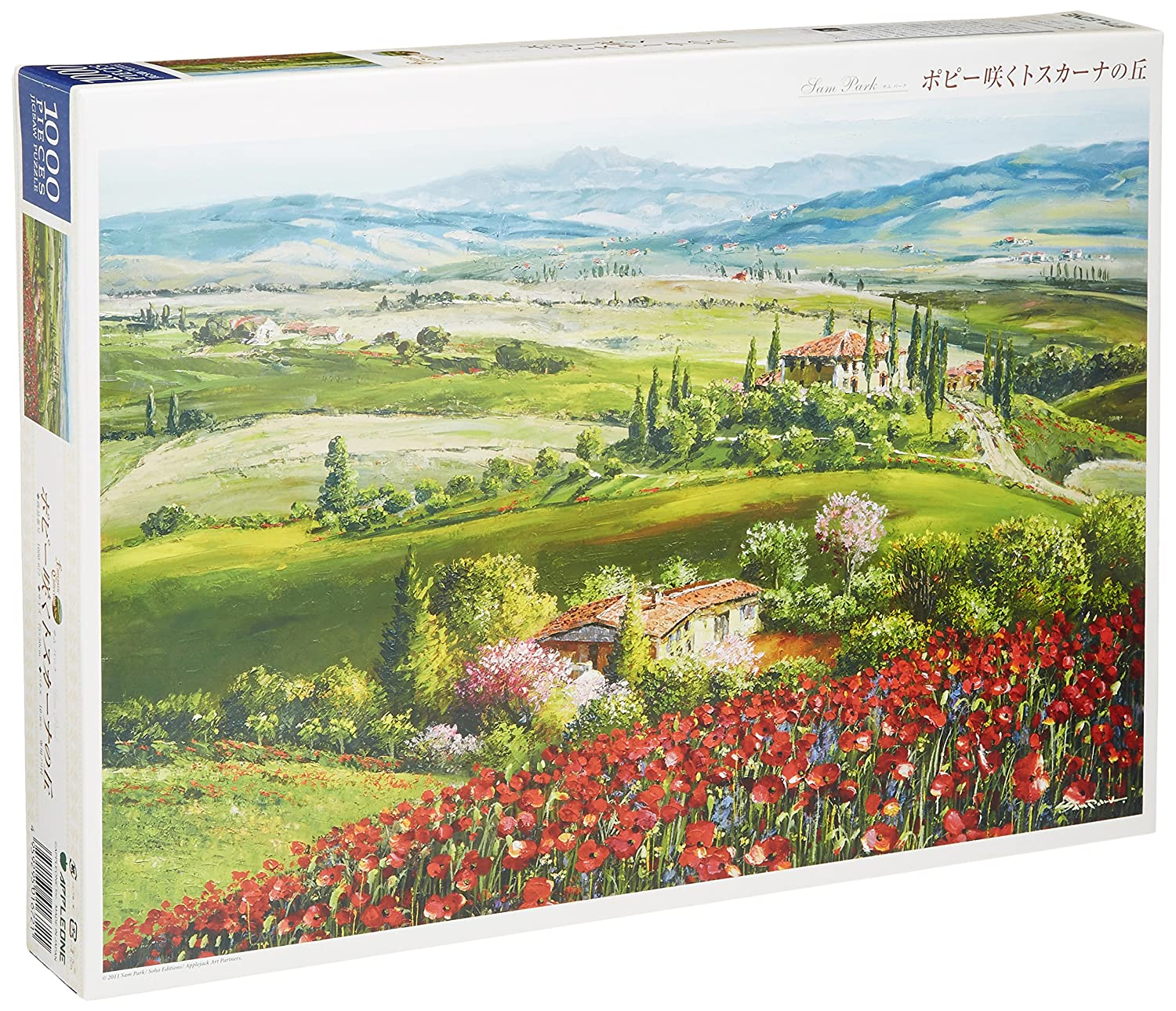 1000-672 hills of Tuscany blooming poppy piece 1000 (japan import)