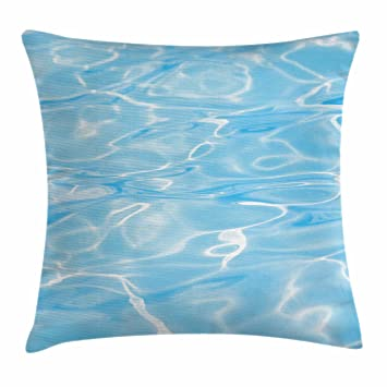 Amazon.com: Aqua Throw almohada cojín cubierta por ambesonne ...