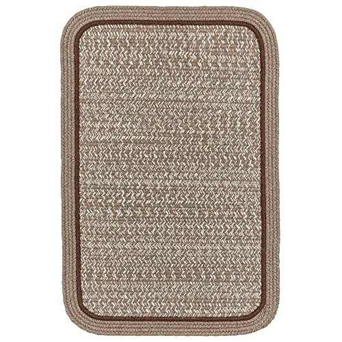 Super Area Rugs Woolmade Braided Rug 100 Wool Rug Soft Texture Rectangle Decor Carpet, 2 X 4