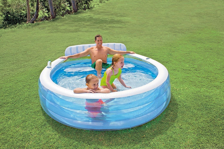 Intex 57190NP - Piscina hinchable con sillón 229 x 218 x 79 cm, 640 litros