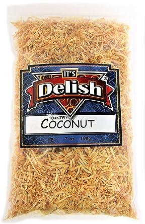 Its Delish Triturado de coco endulzado tostado tritura 10 ...