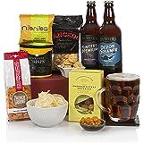 Craft Beer & Food Hamper - Beer Hampers and Gift Basket For Men - Assortment of Treats and Ales