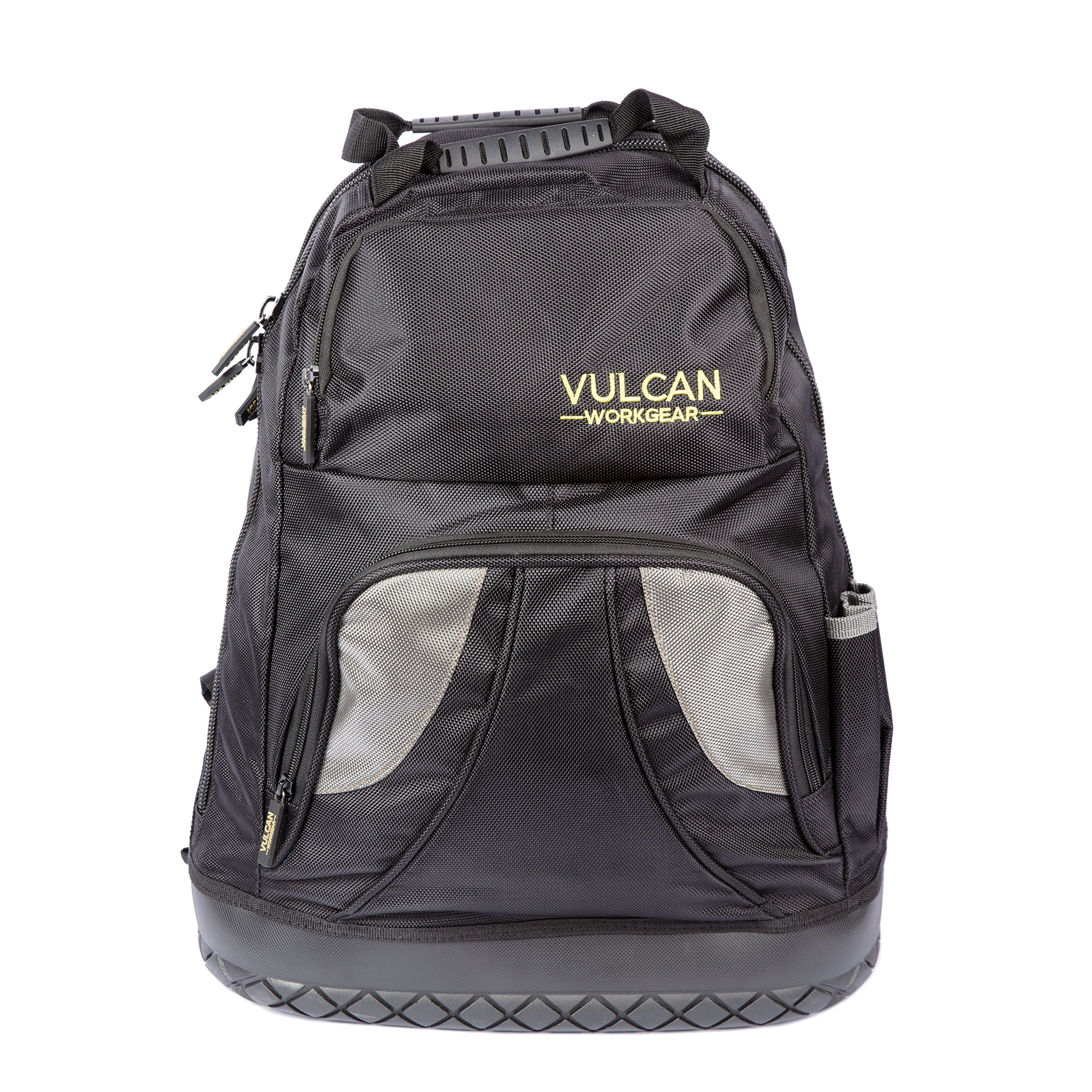 Vulcan Workgear Tool Backpack Tool Bag with Over 24 Reinforced Pockets For All Your Tools & Laptop Compartment - Reinforced Heavy Duty Toolbox/ Tote Bag For Contractors, HVAC, Technicians, Jobsite