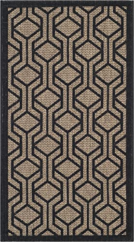 Safavieh Courtyard Collection CY6114-81 Brown and Black Indoor Outdoor Area Rug 2 x 3 7