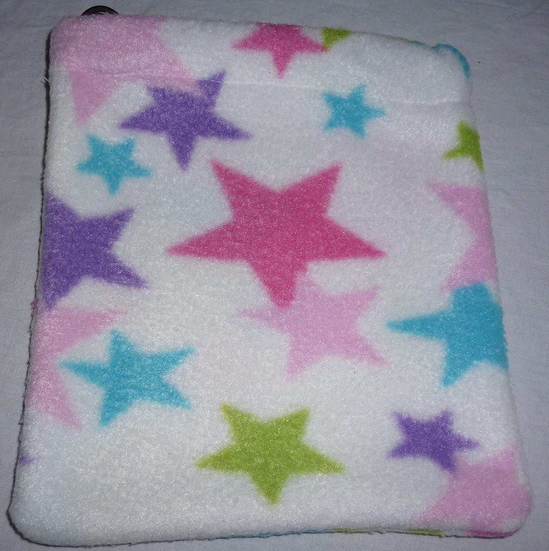 White & Pink Stars Fleece Stirrup Cover, Equestrian