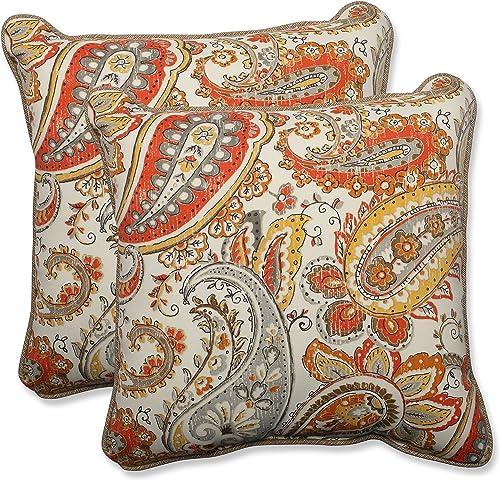 Pillow Perfect Outdoor Indoor Hadia Sunset Throw Pillow Set of 2 , 18.5