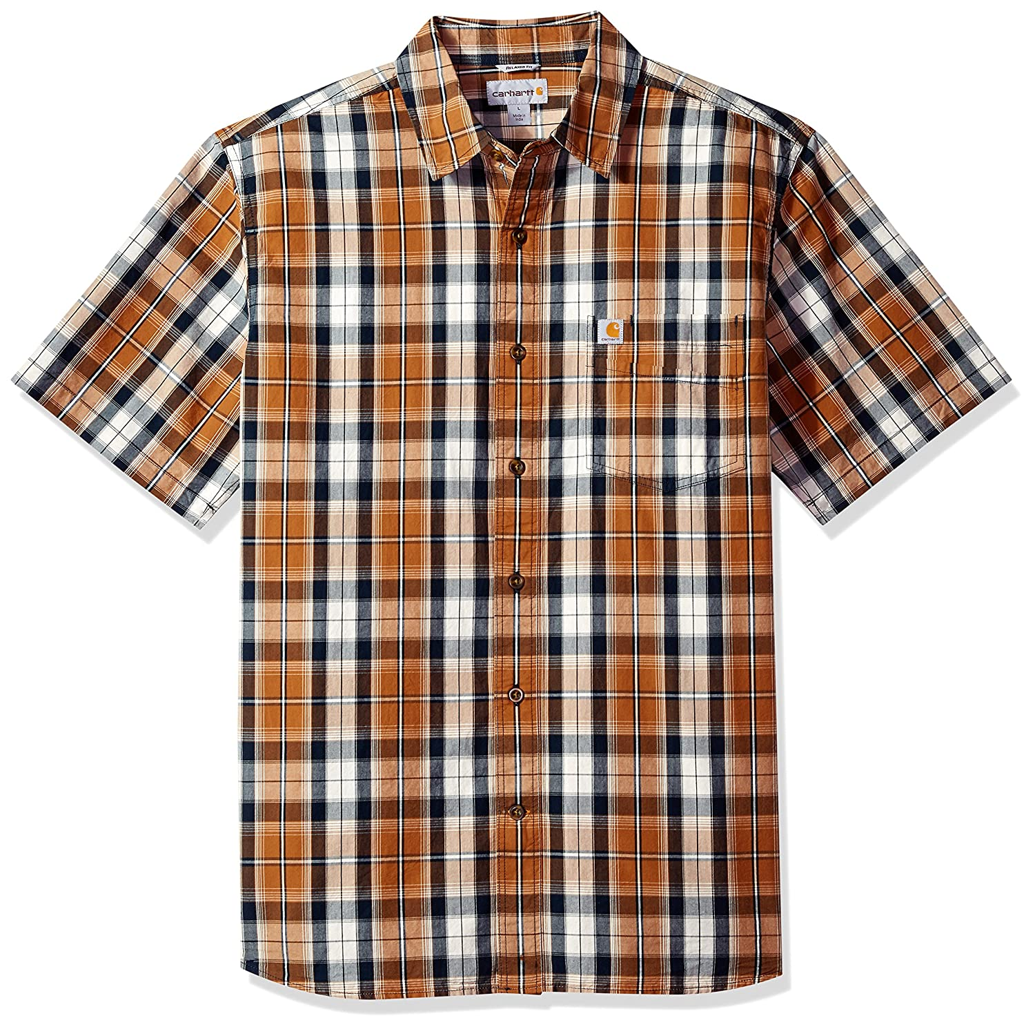 Carhartt SHIRT メンズ B075LZH1ZQ Large|Carhartt Brown Carhartt Brown Large
