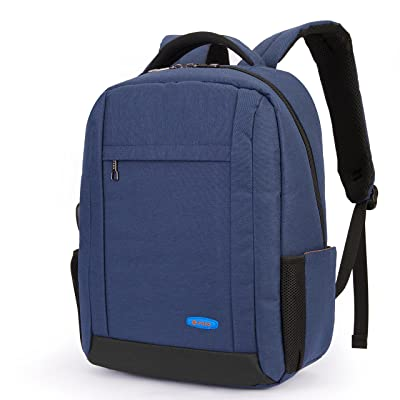Utotebag 15.6 Inch Laptop Backpack, Water Resistant Computer Notebook Rucksack With USB Charger Port College School Travel Daypack (Blue)