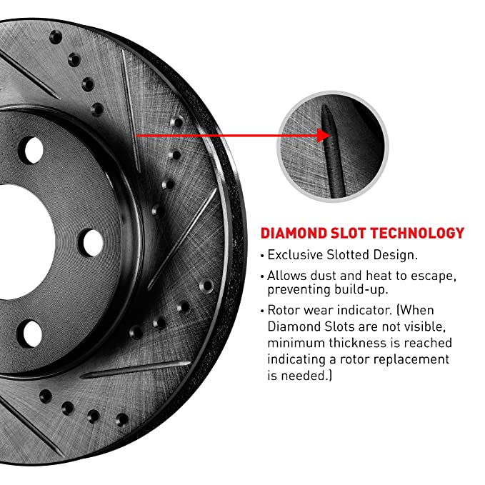 Full Kit Black Drilled Slotted Brake Rotors & Ceramic Brake Pads  Sequoia,Tundra