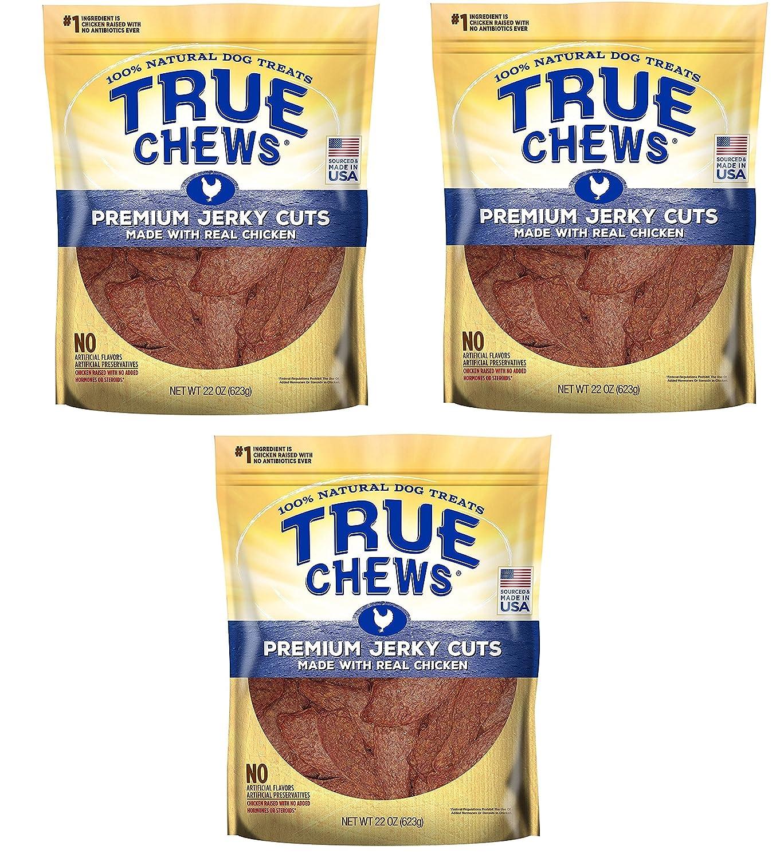 True Chews Dog Treats Premium Chicken Jerky 22oz Made in USA 3 Packs