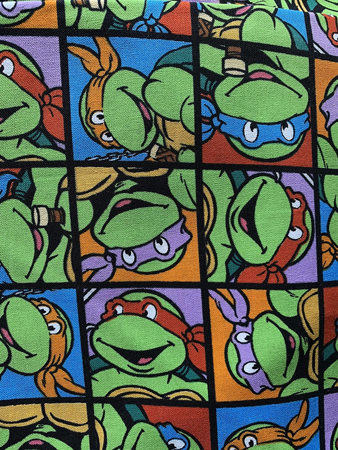 Image of Adult Weighted Blanket twin size Ninja turtles in cotton and flannel with 15 lbs Home and Kitchen