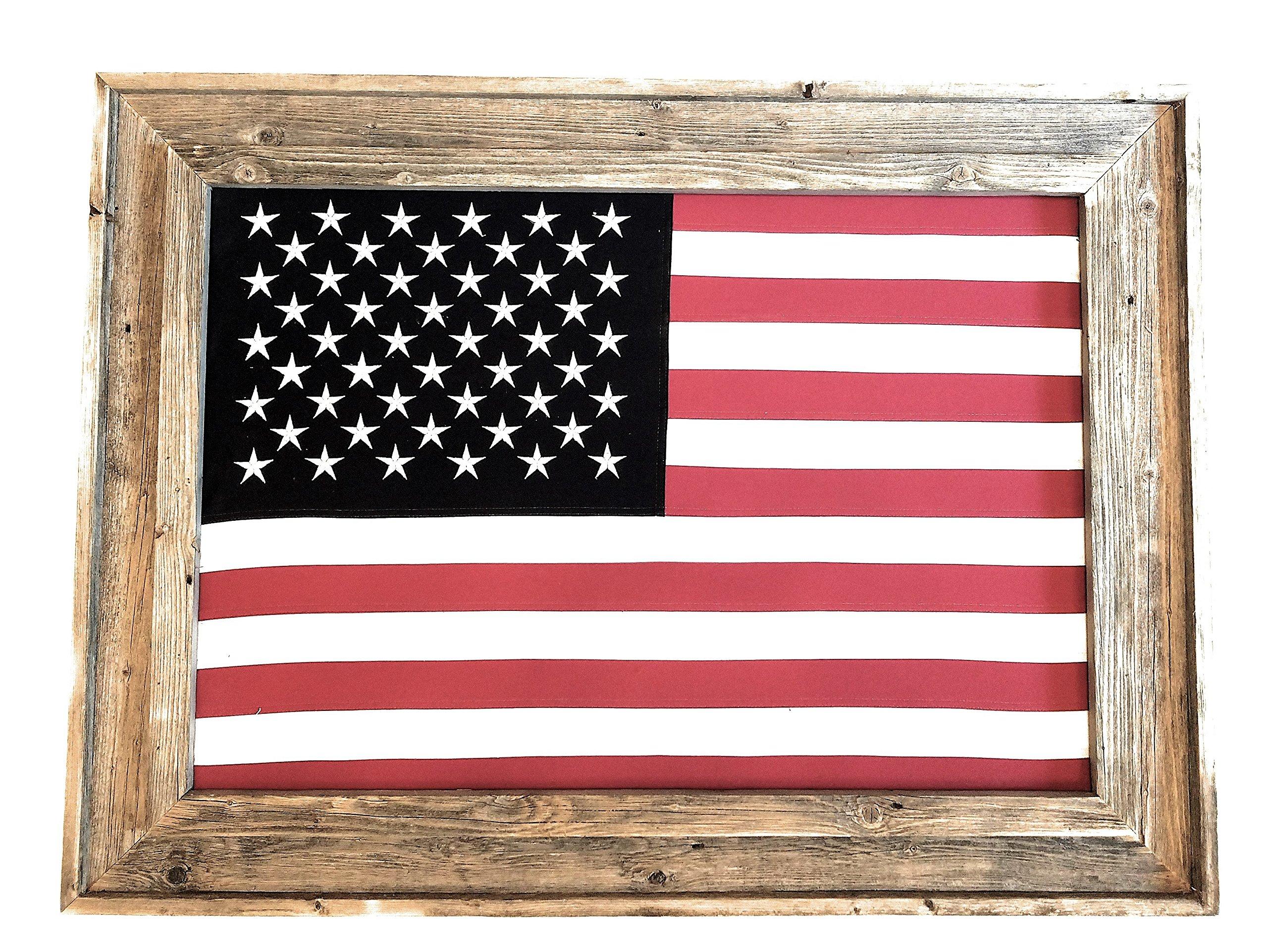 Large Barnwood Framed United States of America-U.S. Flag-Free Shipping