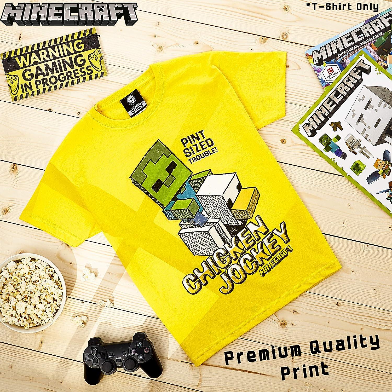 Geschenke f/ür Kinder Baumwolle Kinder T Shirt Gelb Teenager Shirt Minecraft Tshirt Jungen