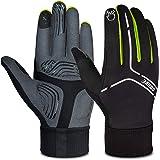 Souke Sports Winter Cycling Gloves Men Women, Touch Screen Padded Bike Glove Water Resistant Windproof Warm Anti-Slip for Run