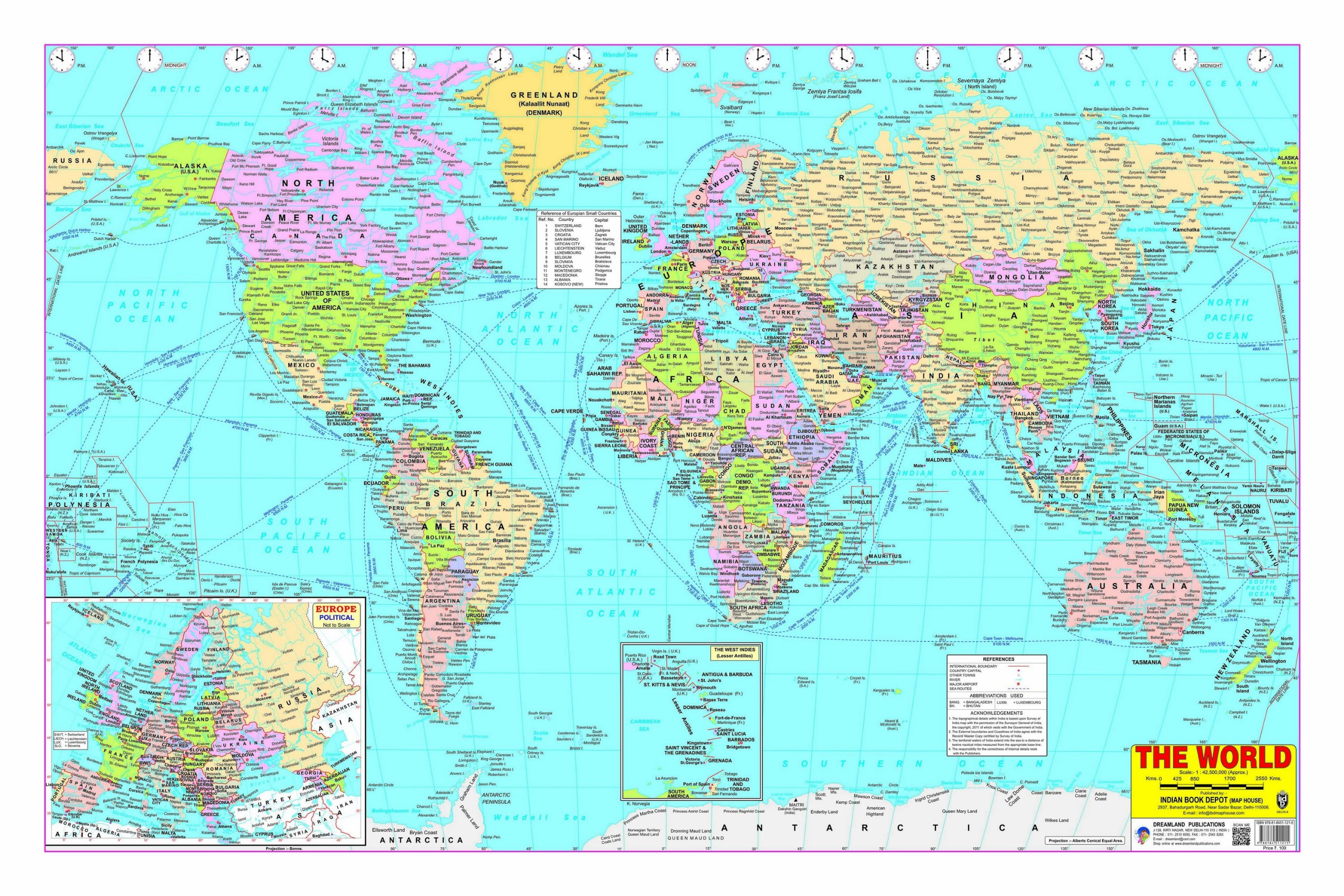 Buy World Map Book Online At Low Prices In India World Map - World map with country names in hindi