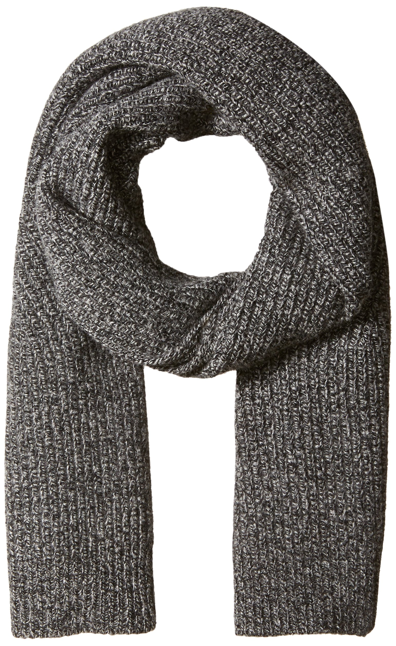 Lacoste Women's Rib Knit Scarf, eclipse blue chine moline, One Size by Lacoste