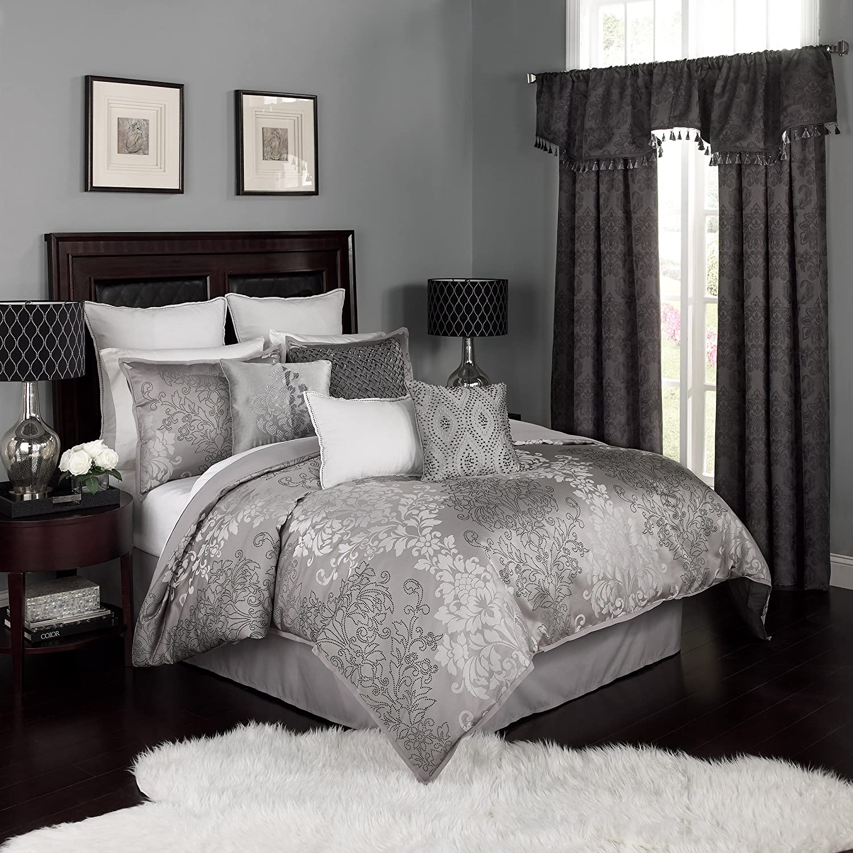 Beautyrest Chacenay Comforter Set, King, Pewter