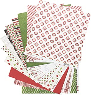 Amazon.com: Pebbles Home for Christmas Patterned Paper Pad, 12 by ...