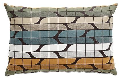 BoConcept Throw Pillow   Colorful Square Pattern   Multi Color Cushion  22u0026quot; X 15u0026quot