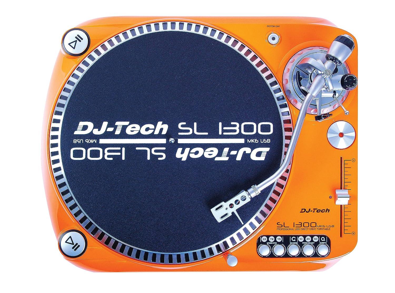 Amazon.com: Dj Tech SL1300MK6USB ORA Direct Drive DJ Turntable, Orange:  Musical Instruments