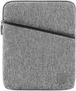 Comfyable Tablet Sleeve for 9.7 10.2 10.5 10 11 Inch iPad Pro Air 2020 2021 M1 and Smart/Magic Keyboard with Pocket & Built-in Pencil Holder - Water-Repellent Protective Pouch Case for iPad, Grey