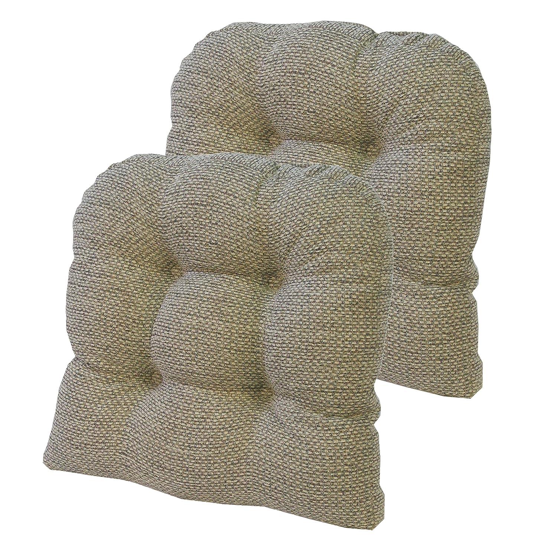 Klear Vu Tyson Universal Chair Pad, Natural, Pack of 2 Chair Cushions