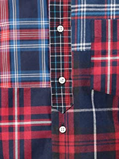 Crazy Pattern Tartan Buttondown Shirt 1211-599-7067: Red