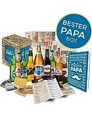 Geschenkidee Papa zum Vatertag Geschenk für Männer   BIERE DER WELT   Geschenkidee für Vater zum Geburtstag oder zum Männertag   Biergeschenk Bester Papa Box (9x0,33l)