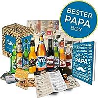 Geschenkidee Papa zum Vatertag Geschenk für Männer | BIERE DER WELT | Geschenkidee für Vater zum Geburtstag oder zum Männertag | Biergeschenk Bester Papa Box (9x0,33l)