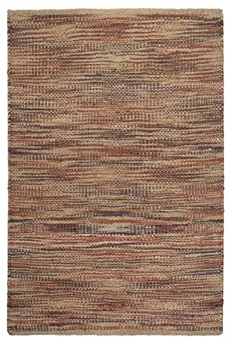 Fab Habitat, 100 Sustainable Jute Area Rug Floor Mat, Eco-friendly Natural Fibers, Handwoven Canyonlans, Multi – 5 X 8
