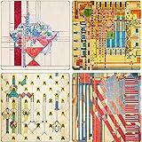 Frank Lloyd Wright Liberty Covers II Absorbent Coasters
