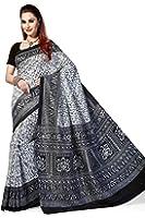 Rani Saahiba Women's Synthetic Saree (Skr1633_White)