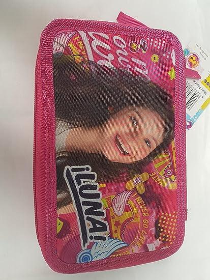 Soy Luna – Estuche escolar garnie doble con accesorios patines en línea Fly soy Luna: Amazon.es: Oficina y papelería