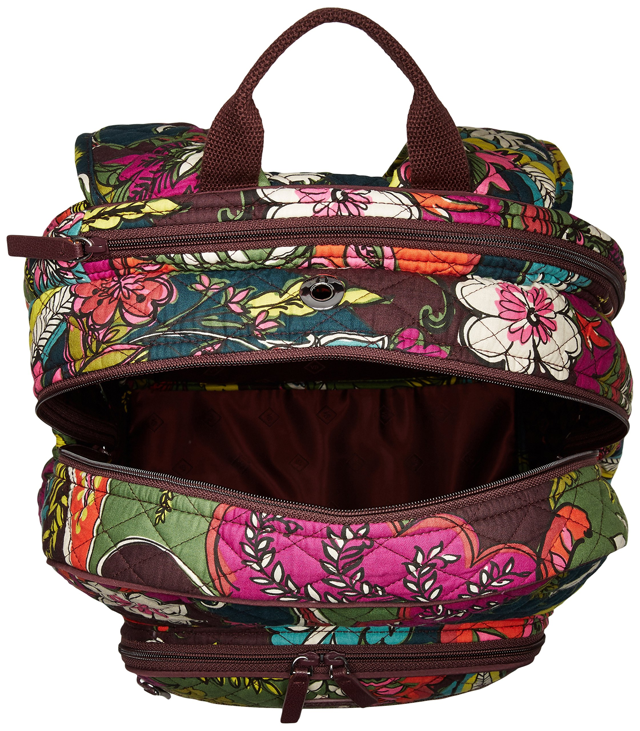 Women's Campus Tech Backpack, Signature Cotton, Autumn Leaves by Vera Bradley (Image #3)