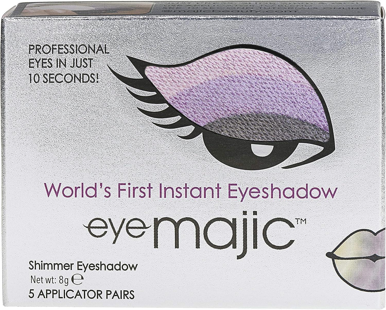 Eye Majic - Sombra de ojos instantánea - Maquillaje profesional en 10 segundos - Pack de 5 - Violetta - 027: Amazon.es: Belleza