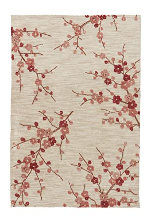 Charming Jaipur Living Cherry Blossom Hand Tufted Polyester Floral U0026 Leaves White  Area Rug (2