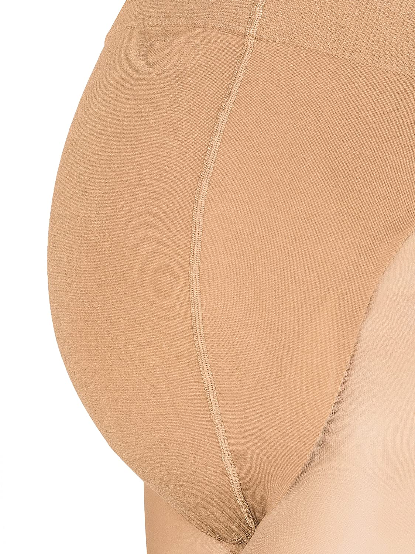medias de nylon Herzmutter Medias de embarazo maternidad transparentes inserci/ón abdominal antideslizante estirable mate 20 DEN 1200 colores de piel beige